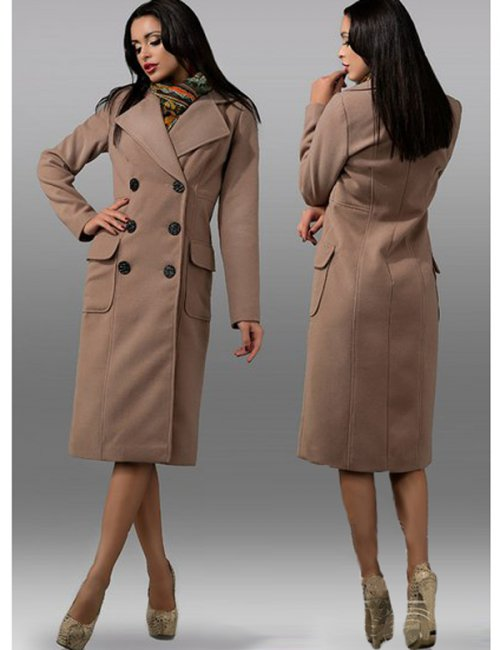 Lady's Street Casual High Quality Eco-Cashmere Wrap Coat