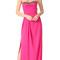 Marchesa notte strapless crepe gown - fuchsia
