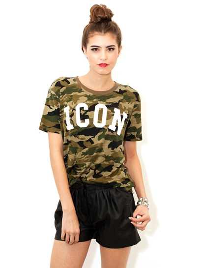 Lovers & Friends Icon Relaxed Tee In Camo