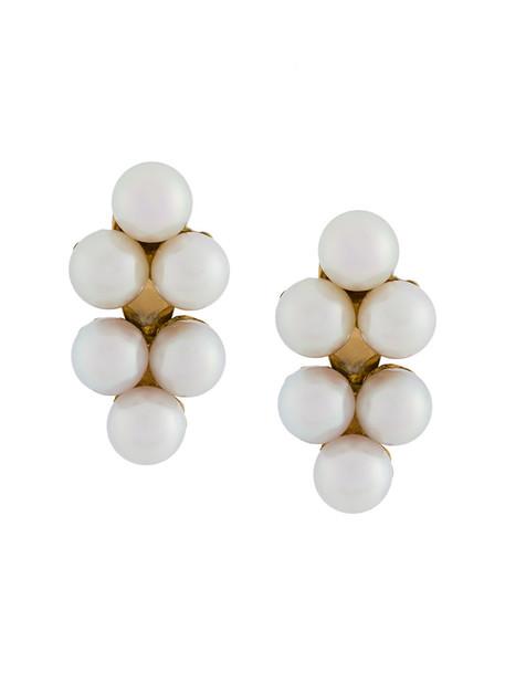 Yvonne Léon women pearl gold yellow grey metallic jewels