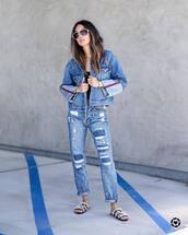 jacket,tumblr,denim,denim jacket,blue jacket,jeans,blue jeans,shoes,slide shoes