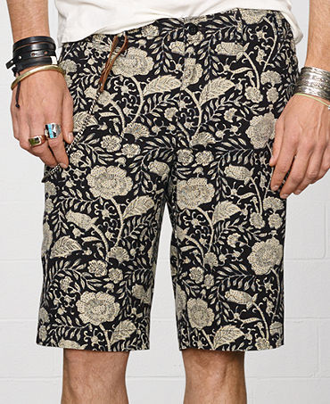 Denim & Supply Ralph Lauren Floral Canvas Shorts - Shorts - Men - Macy's