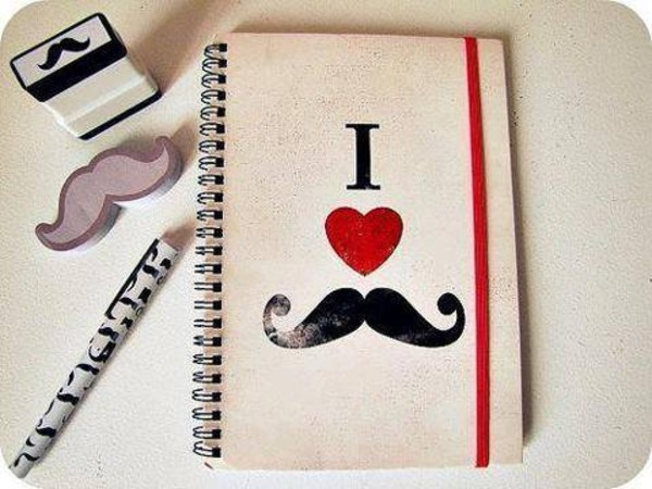 notebook pencils moustache hipster wishlist desk