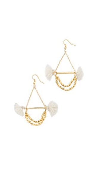earrings cream jewels