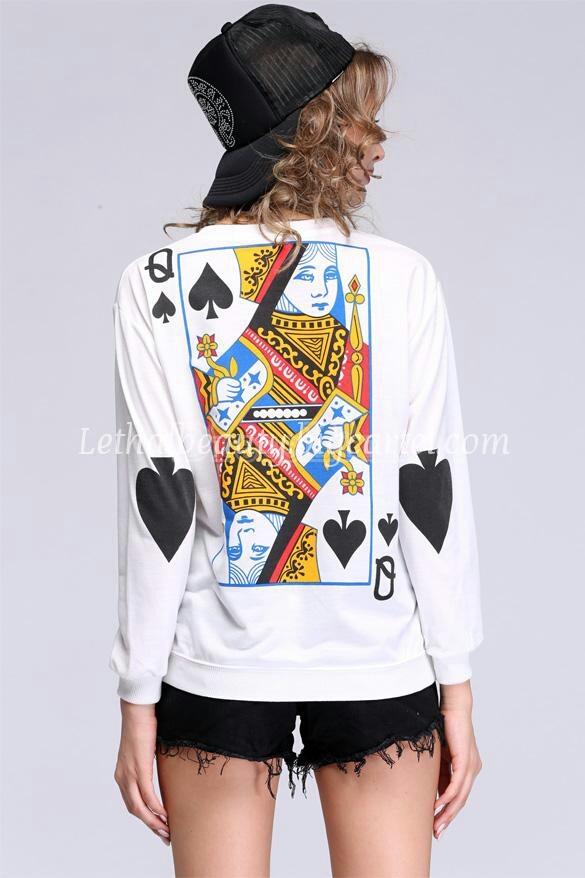 Lethalbeauty ? queen of hearts sweatshirt