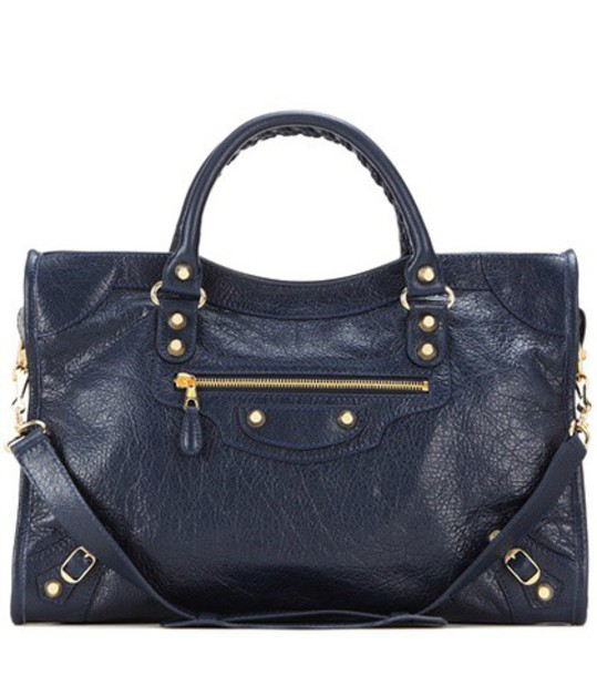 Balenciaga Giant 12 City Leather Tote in blue