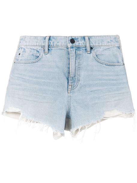 shorts women cotton blue