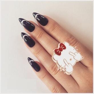 jewels ring jewelry boho hello kitty cats cartoon boho chic chic boho jewelry jewelry ring minimalist jewelry pretty cute hot necklace blake lively rihanna