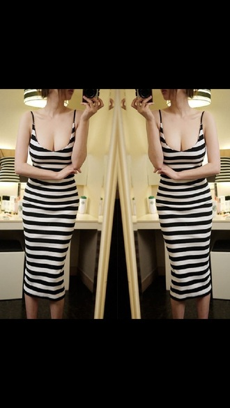 dress mid calf dress tank dress striped dress midi dress bodycon dress sleeveless dress
