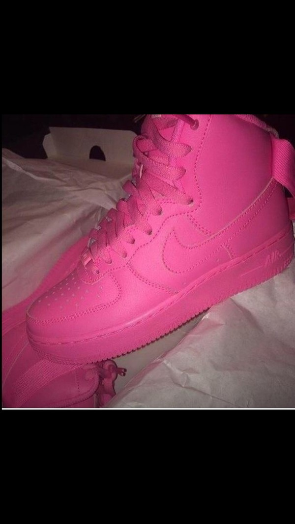 shoes nike high tops pink shoes high top sneakers