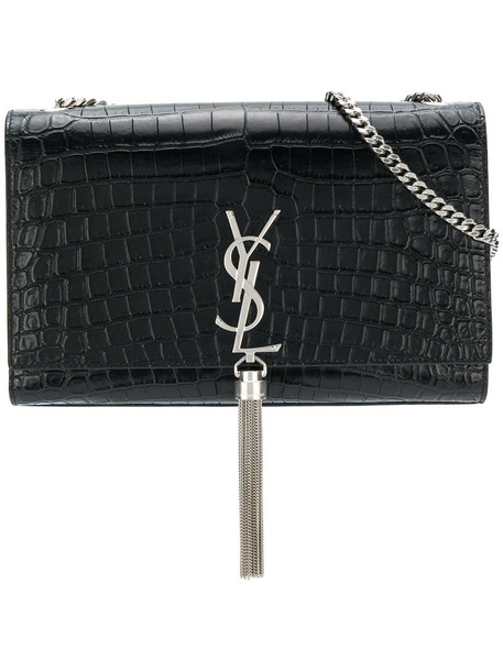 Saint Laurent satchel tassel women leather black bag
