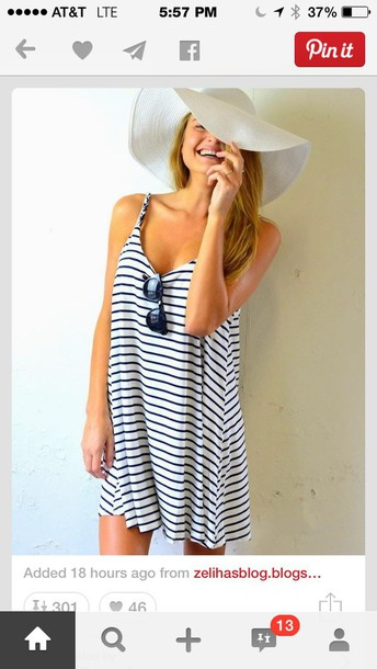 dress navy striped dress