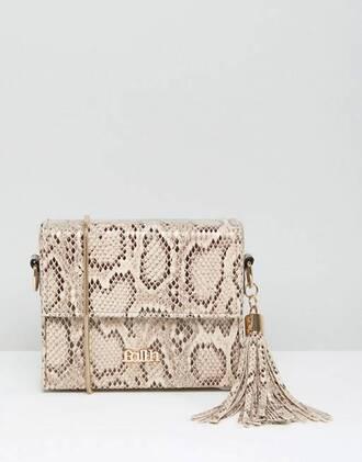 bag beige bag shoulder bag snake python snake print pants lady asos beige