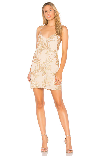 Show me your mumu dress slip dress metallic gold