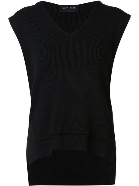 Baja East hoodie sleeveless women cotton black sweater