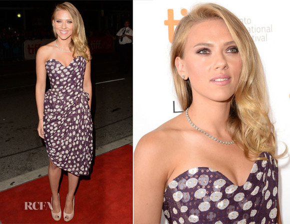 dress red carpet pretty scarlett johansson vivienne westwood