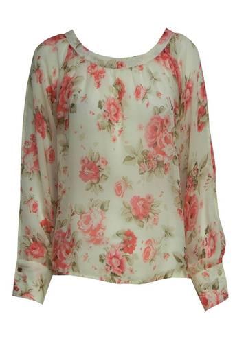 Ladies Jora Floral Print Split Sleeved Blouse | Pop Couture