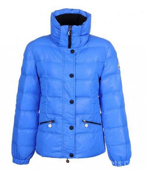 Moncler Women Angers Belted Quilt Jacket Blue Bj130435