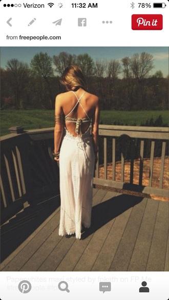 dress boho lace dress prom dress white dress