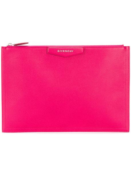 Givenchy women clutch purple pink bag
