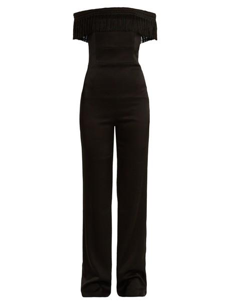 Galvan jumpsuit black