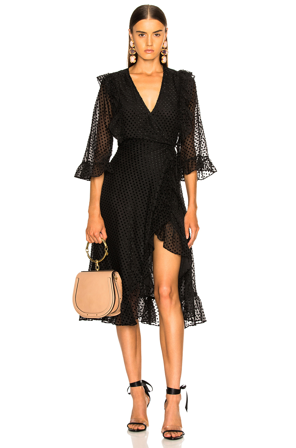 Ganni Jasmine Dress in Black | FWRD