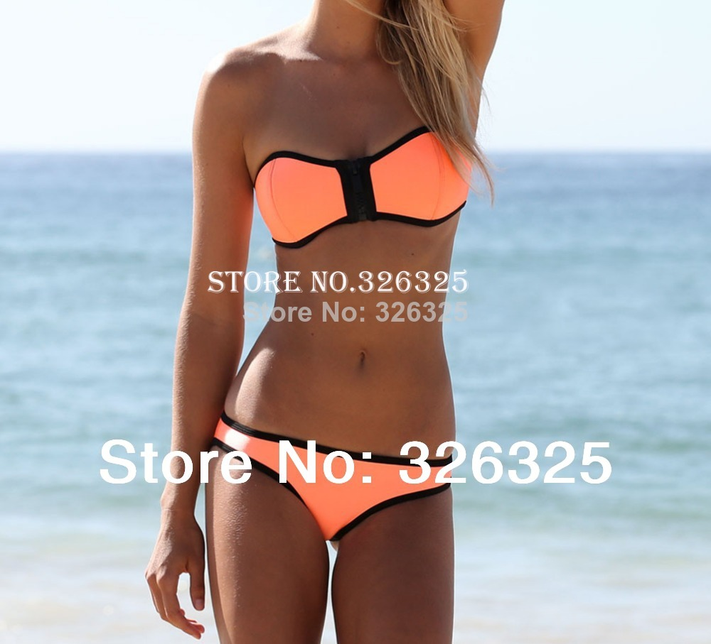 free shipping hot selling triangl NEOPRENE BIKINI Superfly Swimsuit Bottoms Neoprene Swimwear T00504-in Bikinis Set from Apparel & Accessories on Aliexpress.com