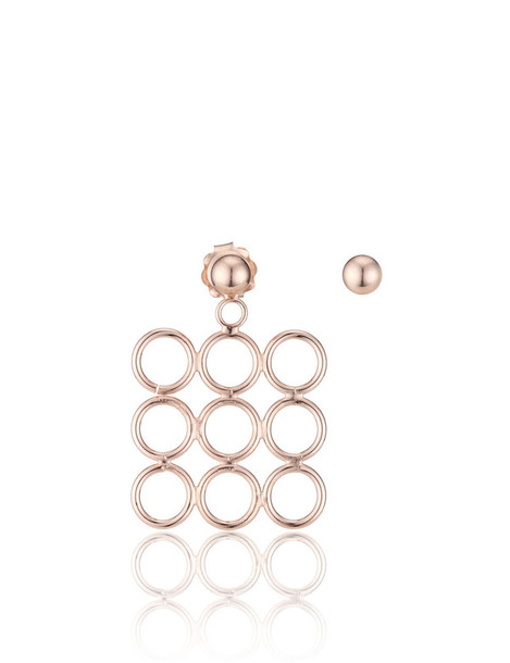 Smith/Grey rose gold rose earrings gold