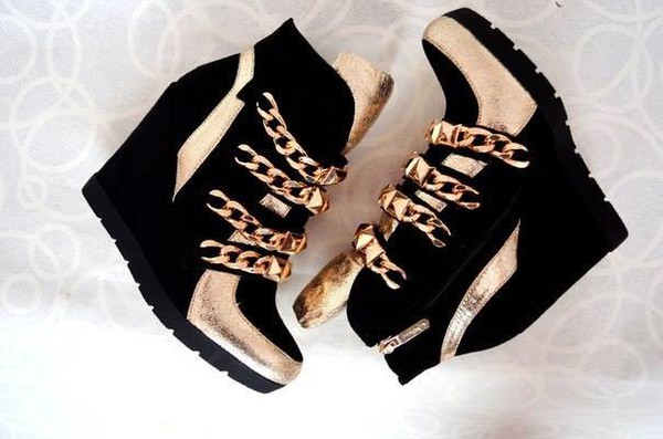 shoes high heels wedges wedge sneakers shoes black wedges