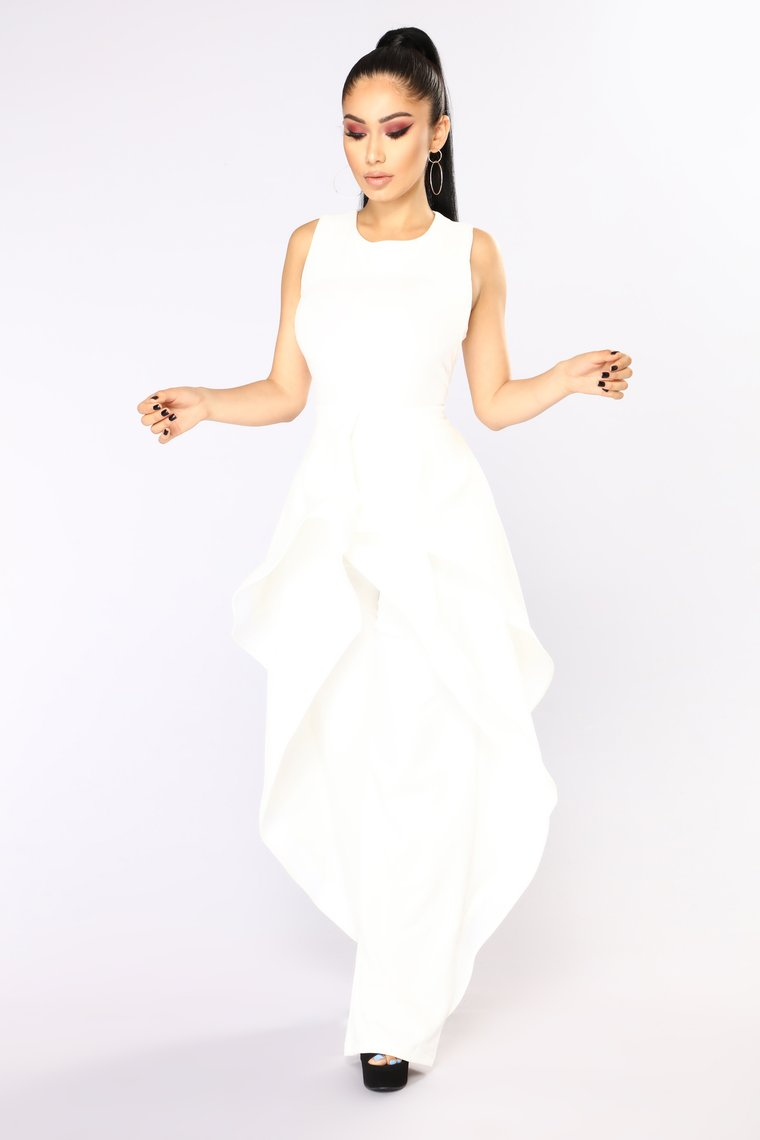 Deja Vu Jumpsuit - White