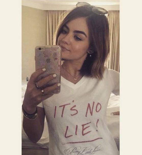 top t-shirt lucy hale instagram