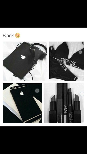 underwear calvin klein underwear all black everything apple make-up