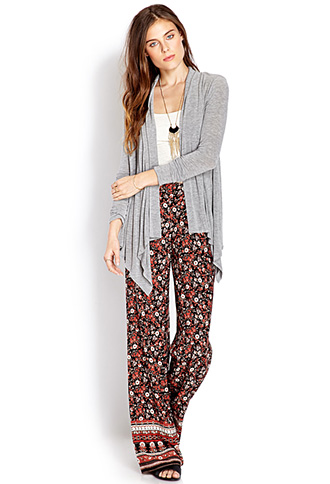 Delicate Floral Wide Leg Pants | FOREVER21 - 2000071009