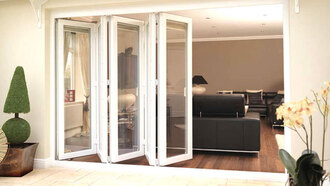 make-up bifold home furniture doors aluminium