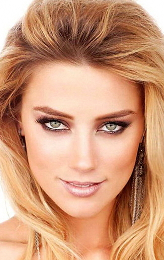 make-up amber heard celebrity celebrity style blonde hair nude natural makeup look glamour party make up eye makeup
