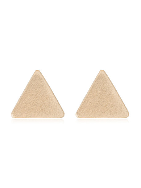 triangle women earrings stud earrings gold grey metallic jewels