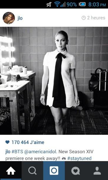 dress black and white dress