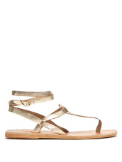 sandals,leather sandals,gold,leather,shoes