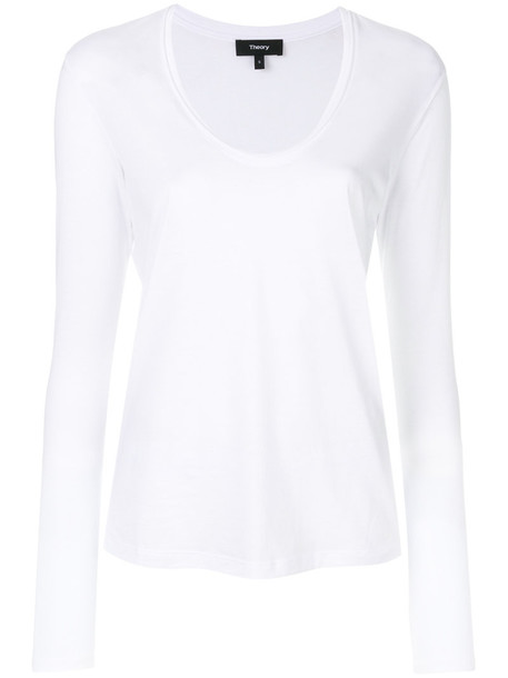 theory top women white cotton
