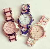 jewels,undefined,watch,geneva,clock,sweet,flowers