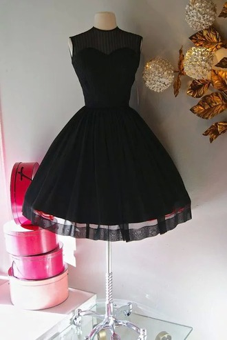 dress black cute lace mini little