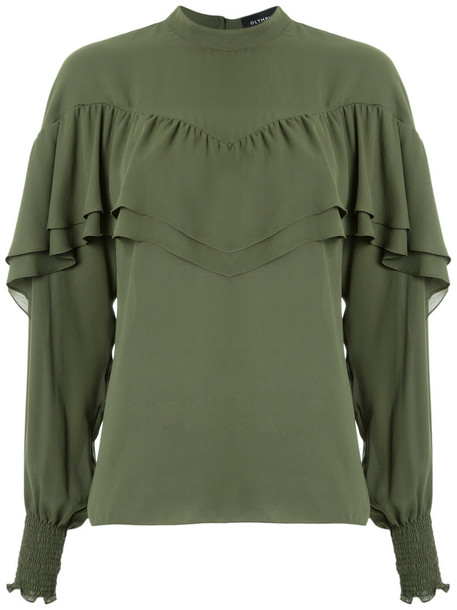 Olympiah top ruffled top women green