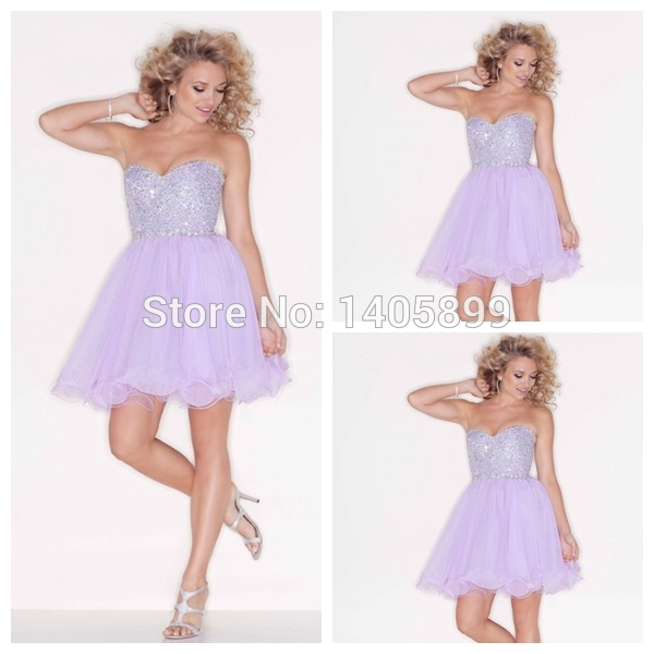 Aliexpress.com : buy sexy short dress purple sweetheart beaded silvery shiny natural above knee mini a line prom dress 2014 for party graduation prom from reliable dress room suppliers on bridal lover