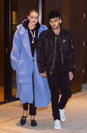 shoes,coat,menswear,mens jacket,zayn malik,gigi hadid,model off-duty,pants,bomber jacket