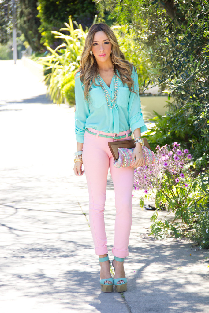 CONNIE SOFT SKINNY PANT - Pink   Haute & Rebellious
