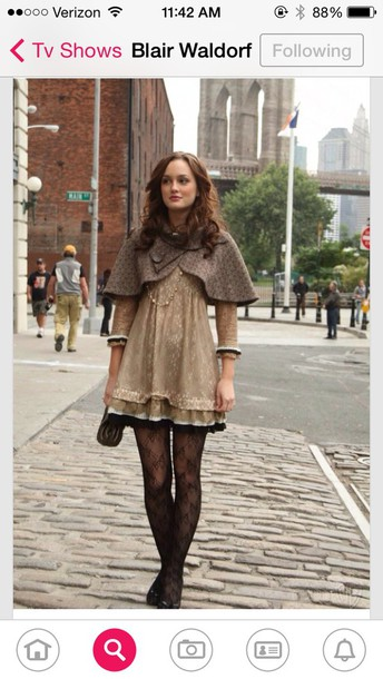 coat blair waldorf cape gossip girl dress gossip girl blair dress black dress cardigan jacket tights