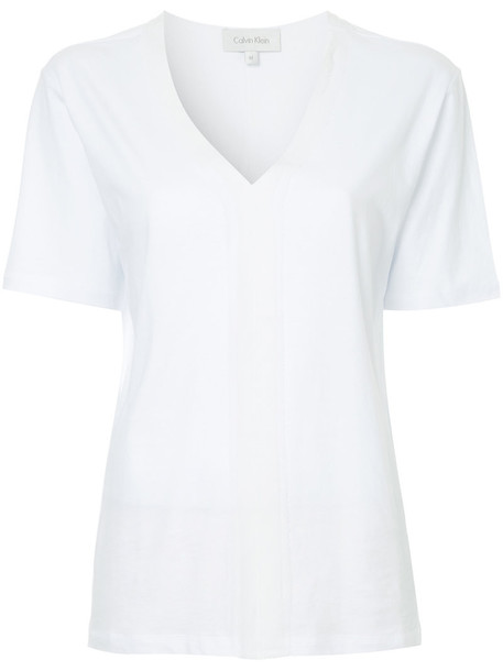 Ck Calvin Klein t-shirt shirt t-shirt women white cotton top