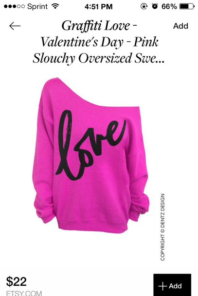 sweater valentines day pink swaeater