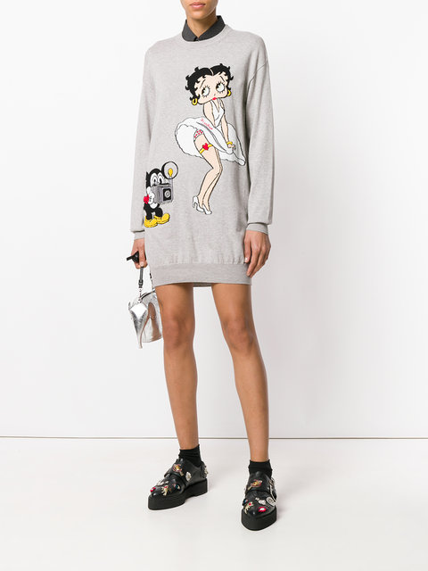 37273fe6e sweater, grey, olivia munn, instagram, betty boop, sweater dress -  Wheretoget