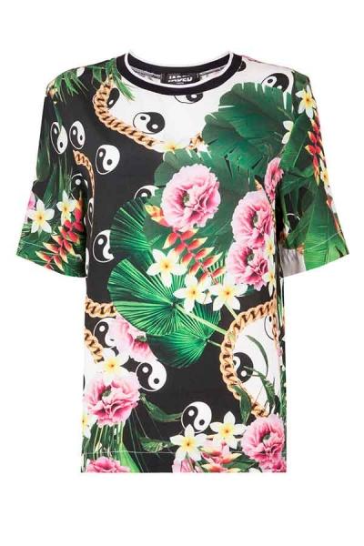 Ying Yang Woven Tee - Streetwear